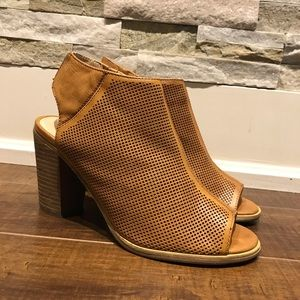 Steve Madden open toe perforated booties